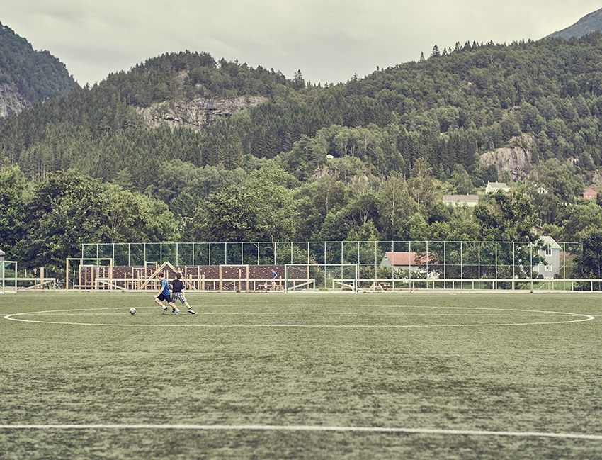 Football training in Norway.