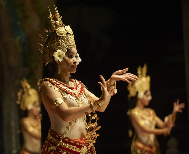 Performers in Cambodia.