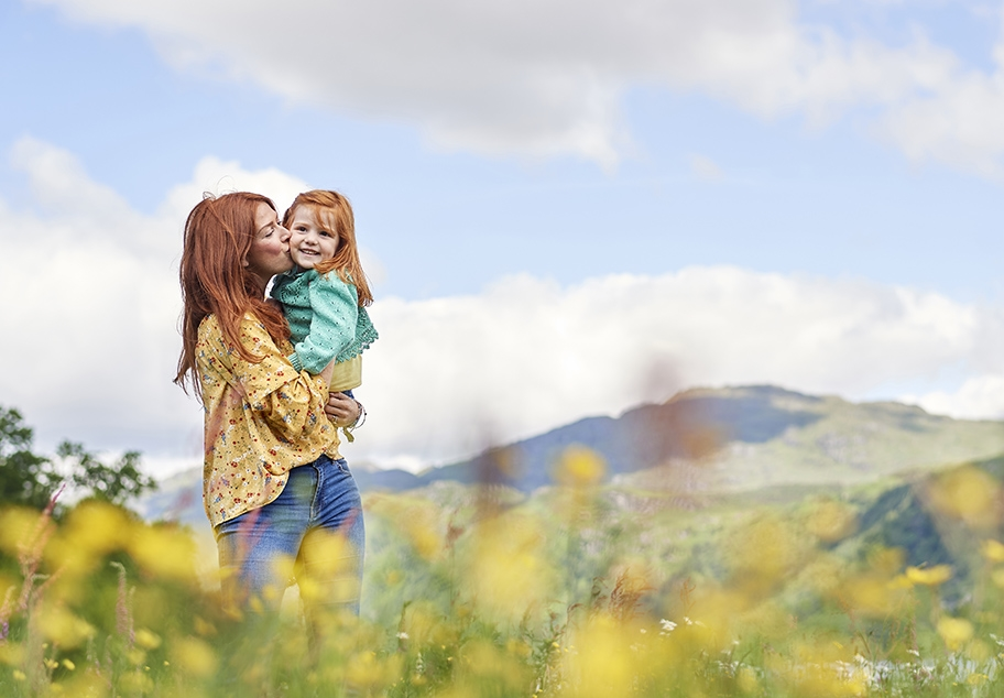 Lifestyle Image of Mother and Child for Landal Holidays