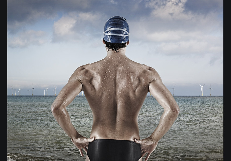 Triathlete Looking Out To Sea